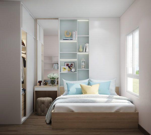 Mẫu thiết kế trang trí nội thất cho phòng ngủ nhỏ hẹp đơn giản mà đẹp